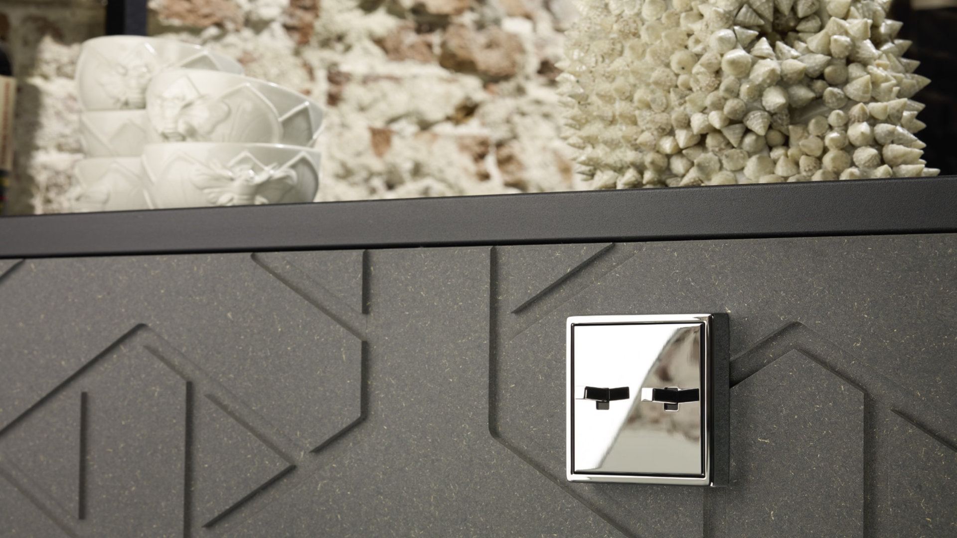 Jung KNX - LS 1912 Serie - Cube 2-gang Vippebryter - Krom